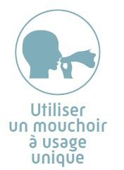 Gestes barrières : Utiliser un mouchoir à usage unique